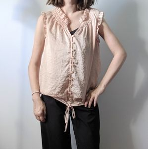 Ann Taylor LOFT Top Blush Pink